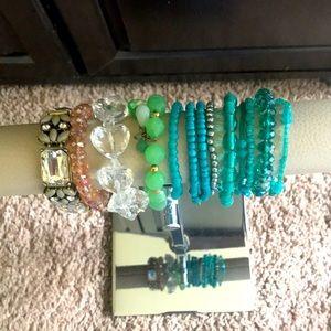 Bundle of Assorted Beaded Bracelets